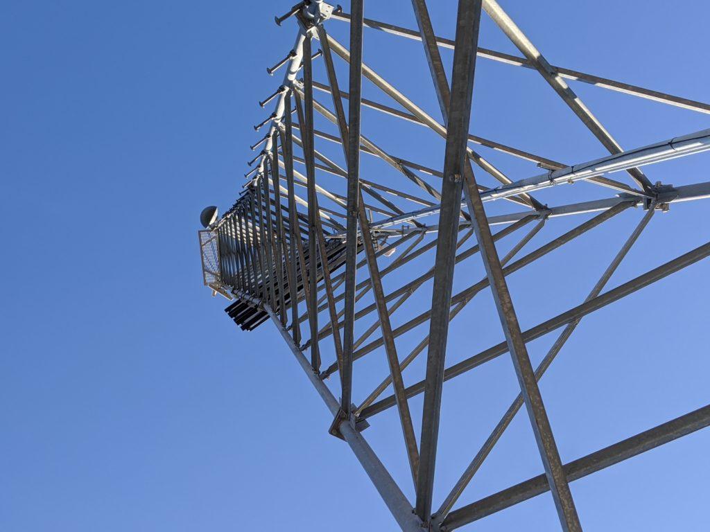 A broadband tower.